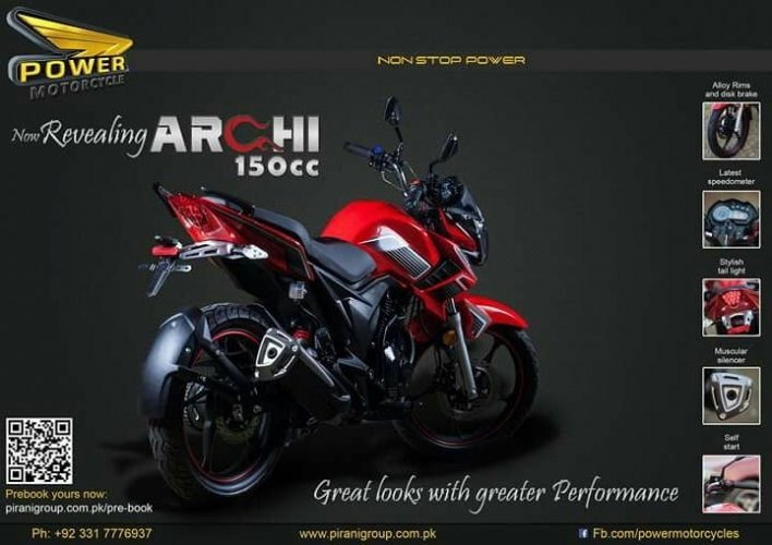 Super Power Archi 150cc Motorcycle Price In Pakistan