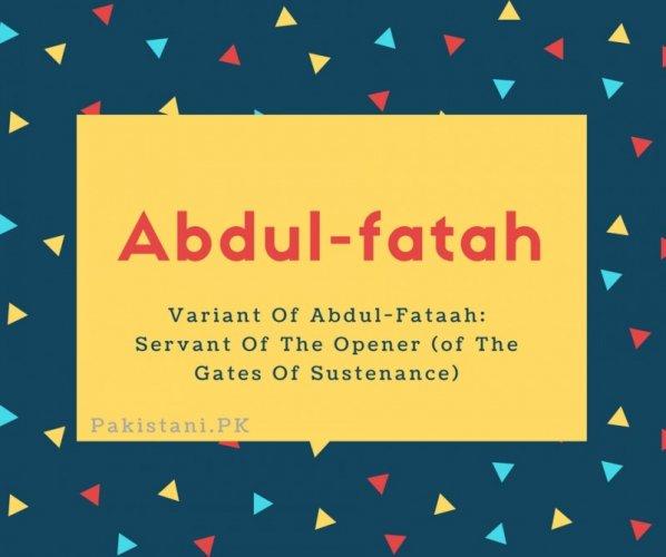 Abdul-fatah
