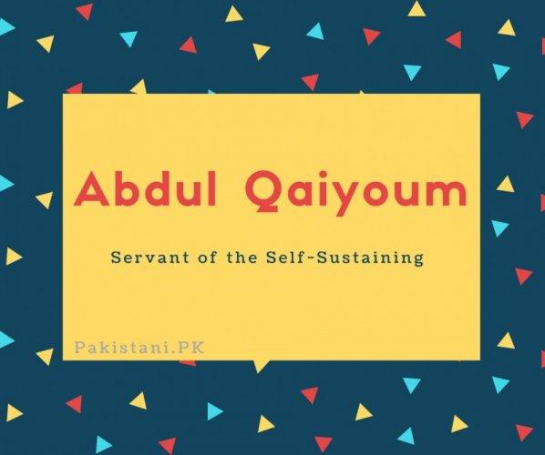 Abdul Qaiyoum