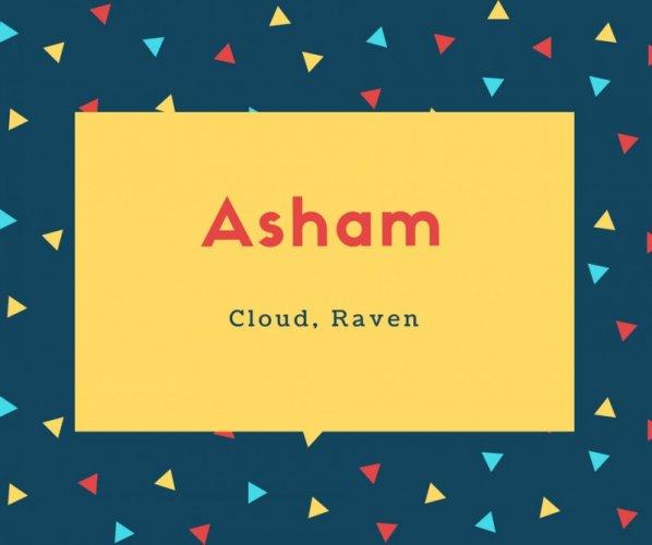 Asham Name Meaning Cloud, Raven