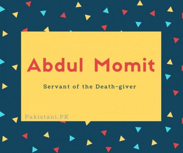 Abdul Momit