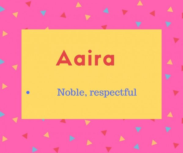 Aaira Name Meaning