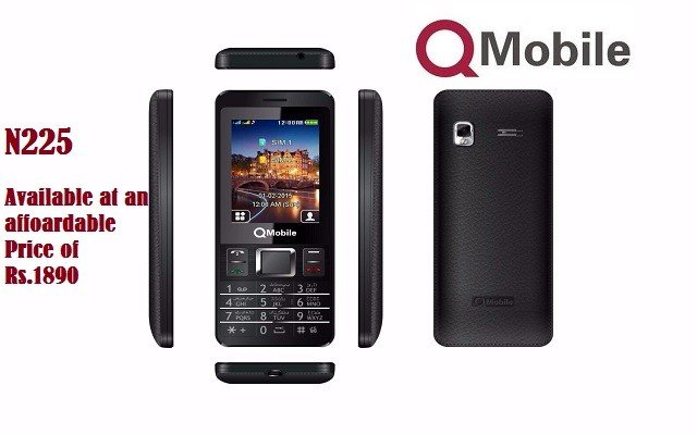 QMobile N225 Side And Back Look