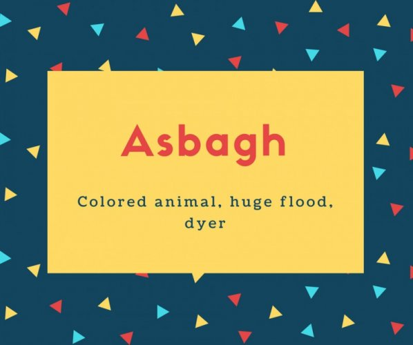 Asbagh Name Meaning Colored animal, huge flood, dyer