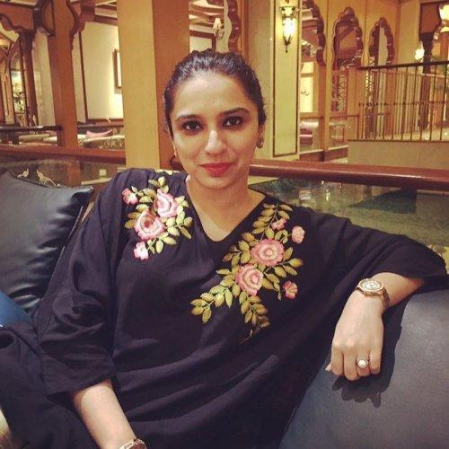 Smart Maria Memon in Black Dress