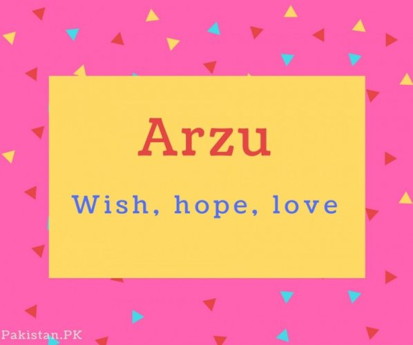 Arzu name Meaning Wish, hope, love.