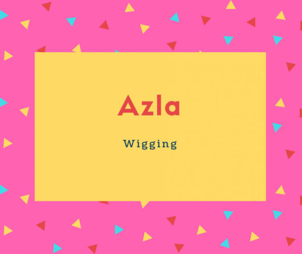 Azla Name Meaning Wigging