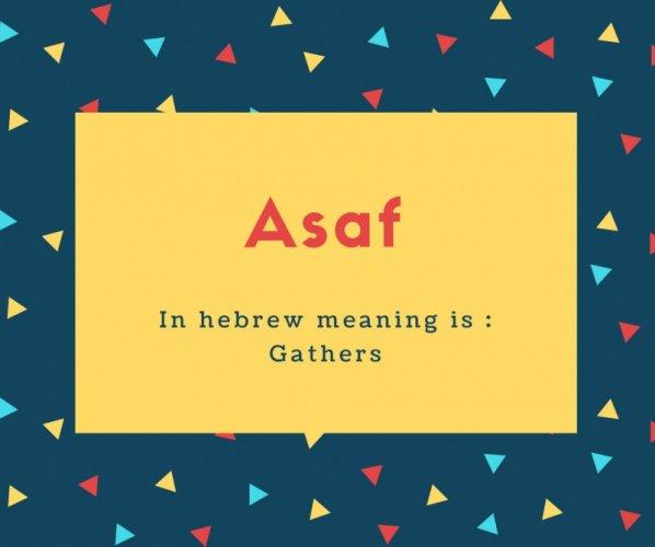 What is Asaf Name Meaning In Urdu - Asaf Meaning is اکٹھے