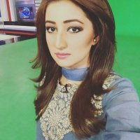 SMart Ayesha zulfiqar in Sea BLue Dress