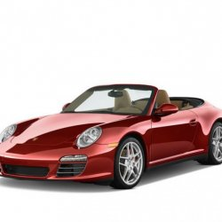 Porsche 911 Turbo Red model over view