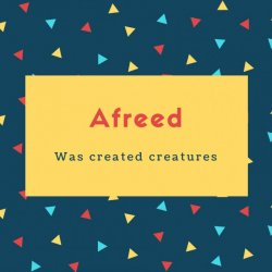 Afreed Name Meaning Was created creatures