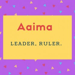 Aaima Name Meaning