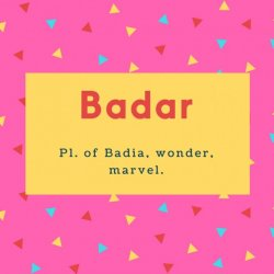 Badar Name Meaning Full Moon