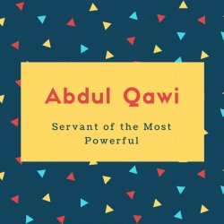 Abdul Qawi Name Servant of the Most Powerful