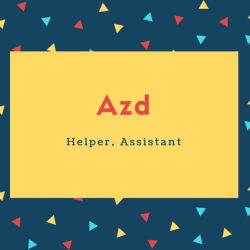 Azd Name Meaning Helper, Assistant