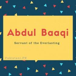 Abdul Baaqi