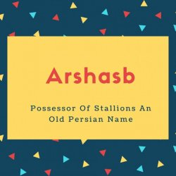 Arshasb Name Meaning Possessor Of Stallions An Old Persian Name