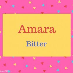 Amara Name Meaning Bitter.