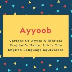 's Name. Job Is The English Language Equivalent