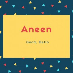 Aneen Name Meaning Good, Hello