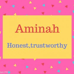Aminah Name Meaning Honest,trustworthy