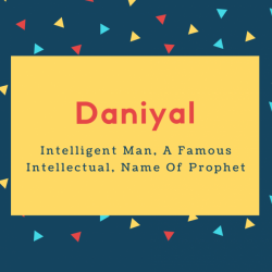 Daniyal Name Meaning Intelligent Man, A Famous Intellectual, Name Of Prophet