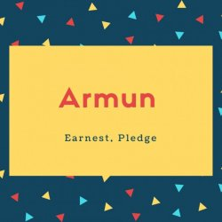 Armun Name Meaning Earnest, Pledge