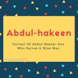 Abdul-hakeen