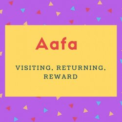 Aafa Name Meaning