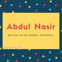 Abdul Nasir.