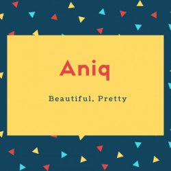 Aniq Name Meaning Beautiful, Pretty