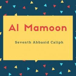 Al Mamoon Name Meaning Seventh Abbasid Caliph