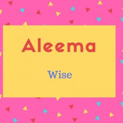 Aleema Name Meaning Wise