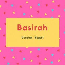 Basirah Name Meaning Vision, Sight