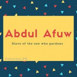Abdul Afuw