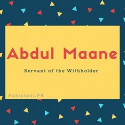 Abdul Maane