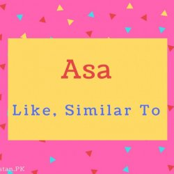 Asa name Meaning Like, Similar To.