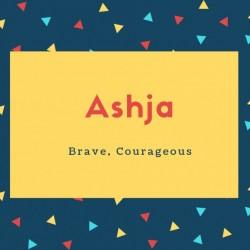 Ashja Name Meaning Brave, Courageous