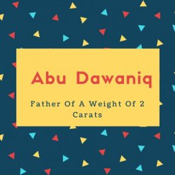 Abu Dawaniq Name Meaning Father Of A Weight Of 2 Carats