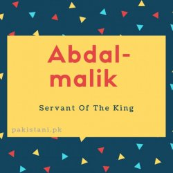 Abdal-malik name meaningServant Of The King.