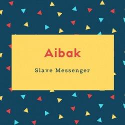 Aibak Name Meaning Slave Messenger