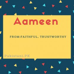 Aameen name meaning Faithful, Trustworthy