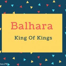 Balhara Name Meaning King Of Kings