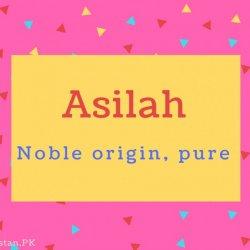 Asilah name Meaning Noble origin, pure.