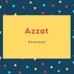 Azzat Name Meaning Precious