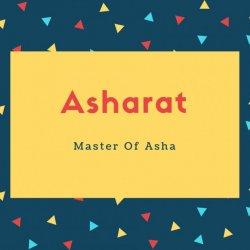 Asharat Name Meaning Master Of Asha