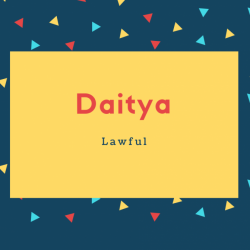 Daitya Name Meaning Lawful