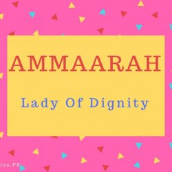 Ammaarah Name Meaning Lady Of Dignity.