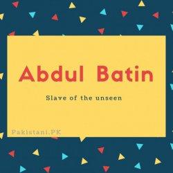 Abdul Batin