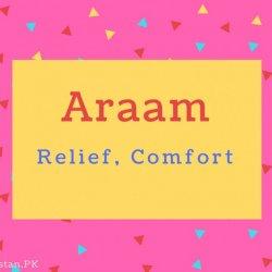 Araam Name Meaning Relief, Comfort.